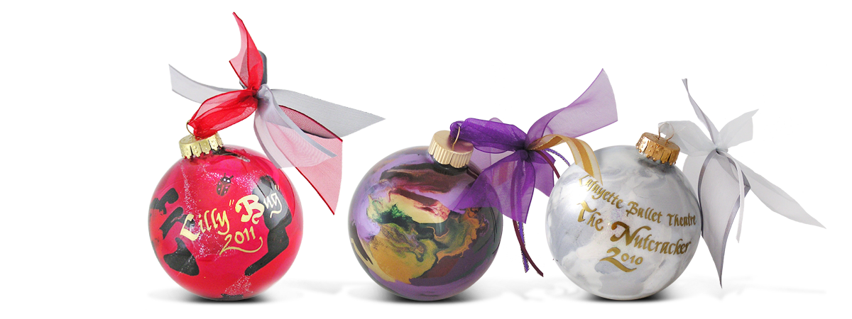 Three beautiful ornaments from our ornament collection