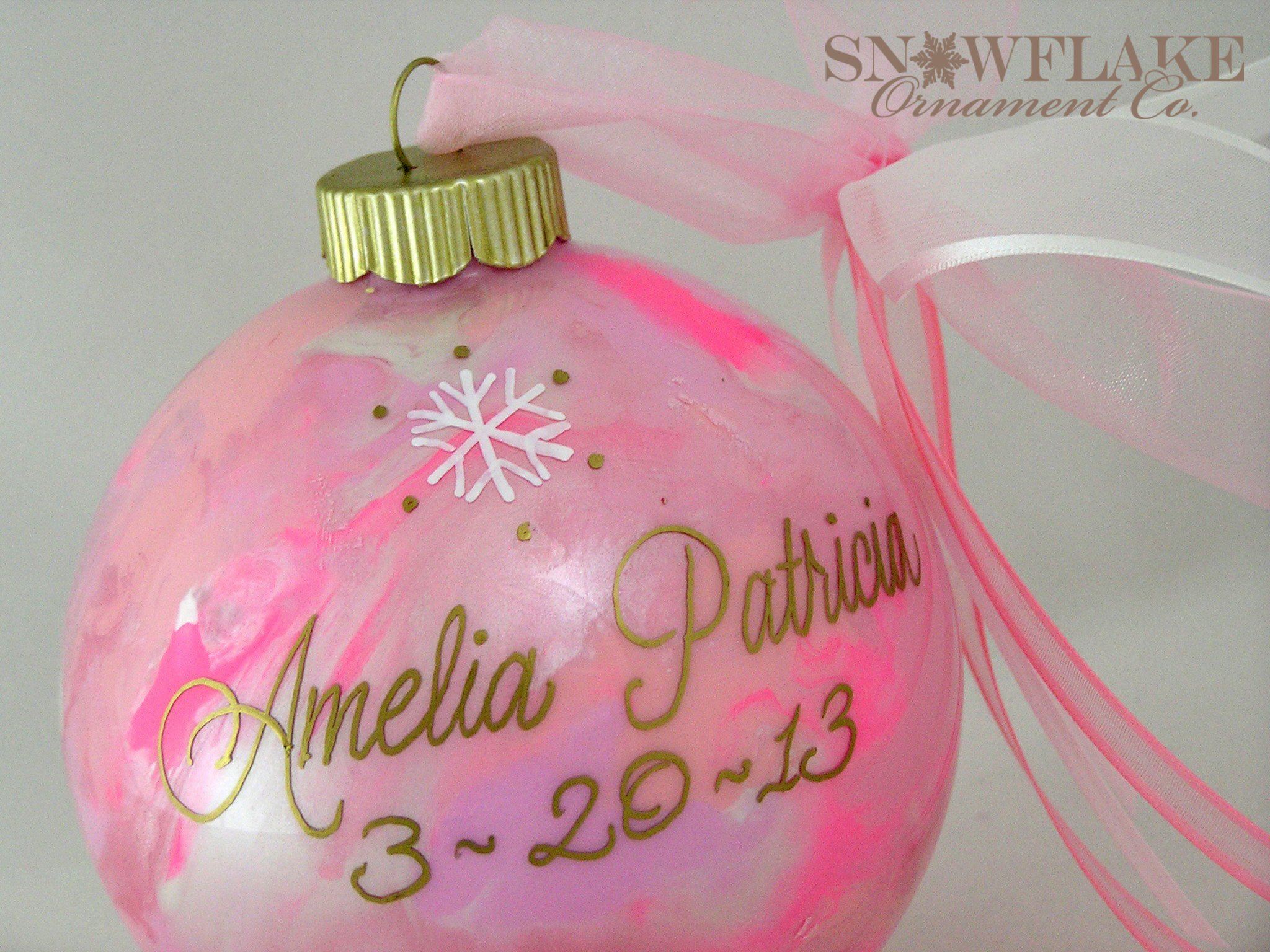 Baby\'s First Christmas Ornaments, Wedding Ornaments, Custom Designed ...